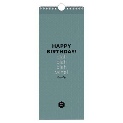 Verjaardagskalender 130x325mm Mama Baas